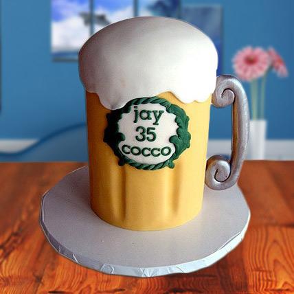 Beer Mug Fondant Cake