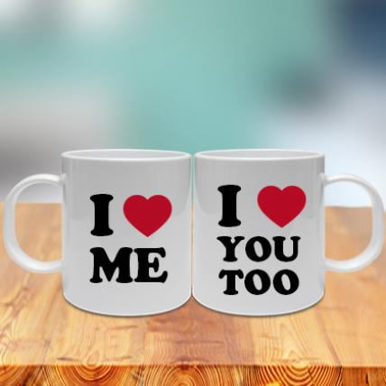 Love You Love Me Couple Mug