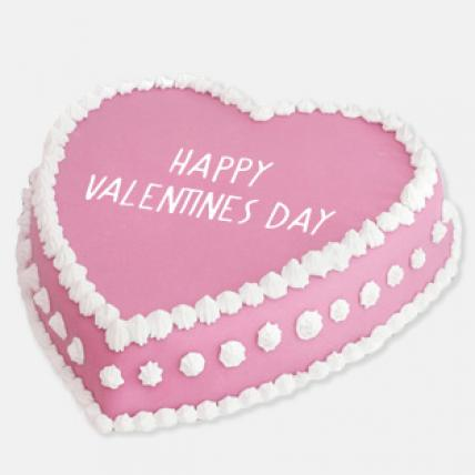 Happy Valentines Day Pink Cake