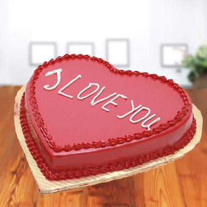Premium I Love You - Strawberry Cake
