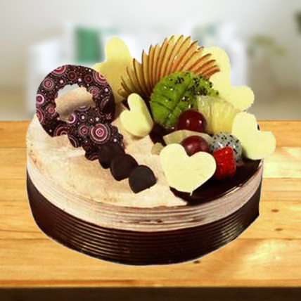 Special Fruit Cake with chocolate