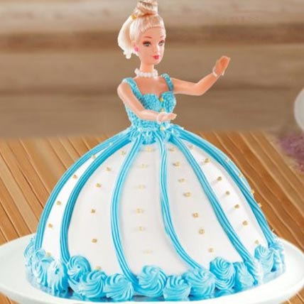 Barbie Doll Fondant Cake