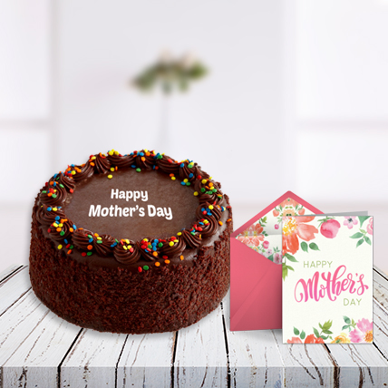 Mothers Day Cake and Card