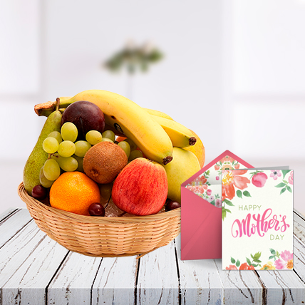 Mothers Day Fruits and Card