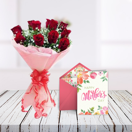 Mothers Day Flowers and Card