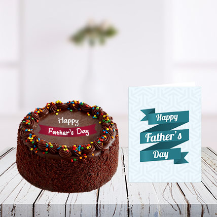 Fathers Day Cake and Card