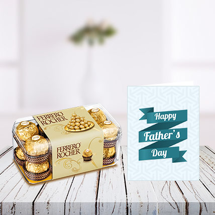 Fathers Day Chocolates and Card