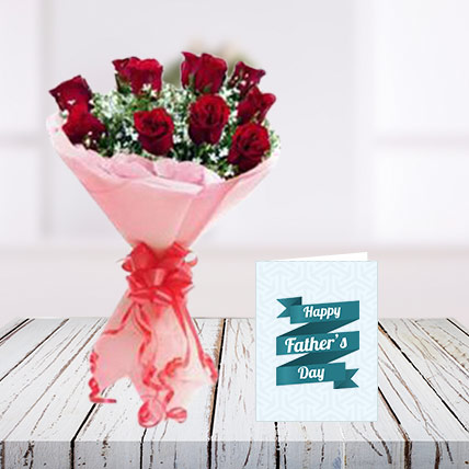 Fathers Day Flowers and Card