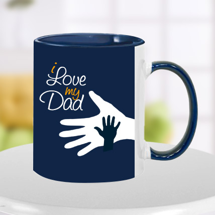 Blue Hand in Hand Dad Mug