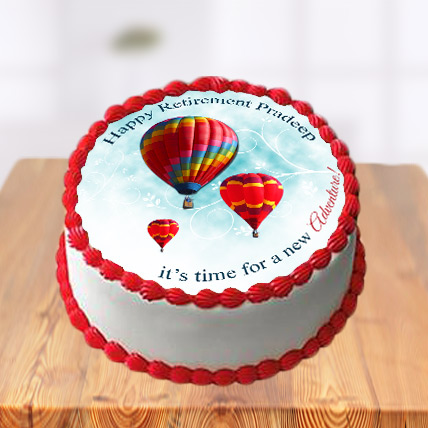 Retirement Photo Cake