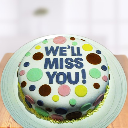 Miss You Farewell Cake