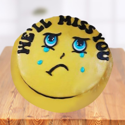 Miss You Smiley Farewell Cake