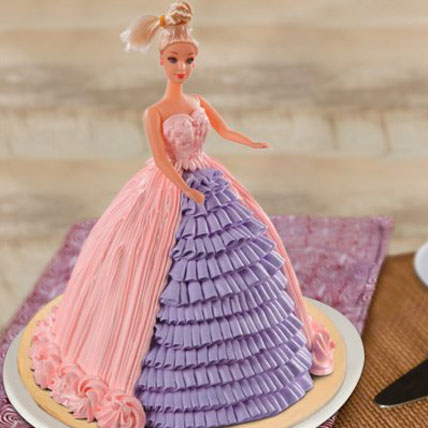 Barbie Floral Dress Cake