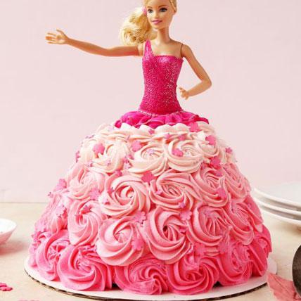 Barbie Roses Dress Cake