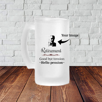 Personalized Retirement Beer Mug