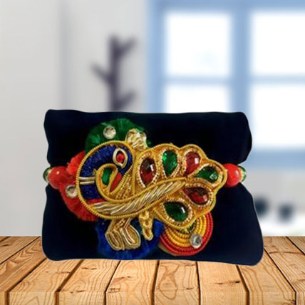 Beautiful Peacock Motif Rakhi