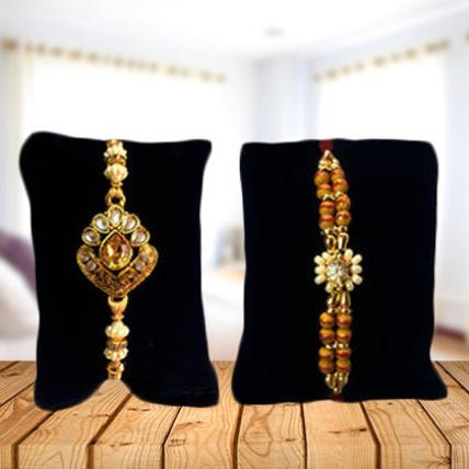 Set of 2 Rakhis-Golden