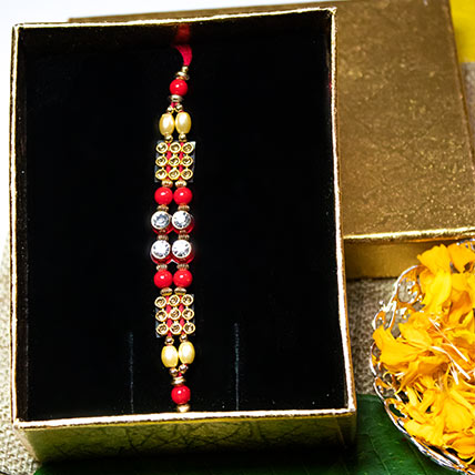 Pearl and Diamonte Rakhi String