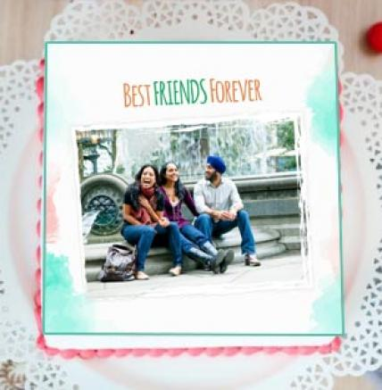 Best Friends Photo Cake