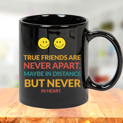 True Friends Black Mug