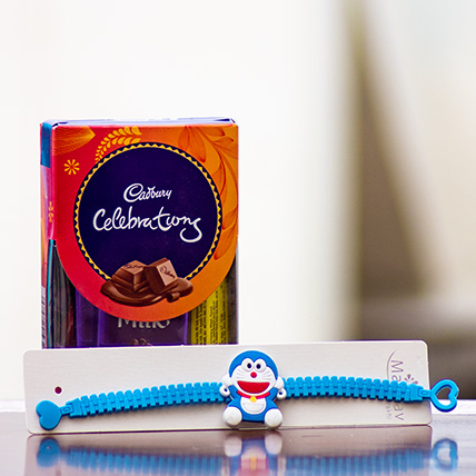 Cartoon Rakhi with Chocolates