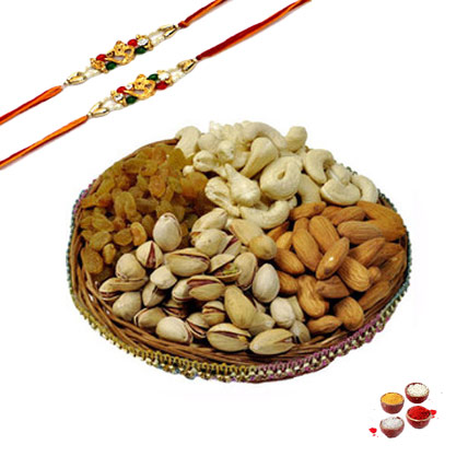 Mix Dry Fruits with Rakhis
