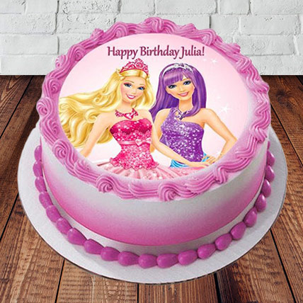 Send Barbie Happy Birthday Cake Online In India At Indiagift In
