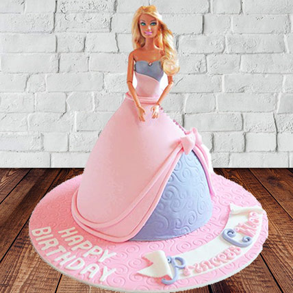 Barbie Gown Fondant Cake