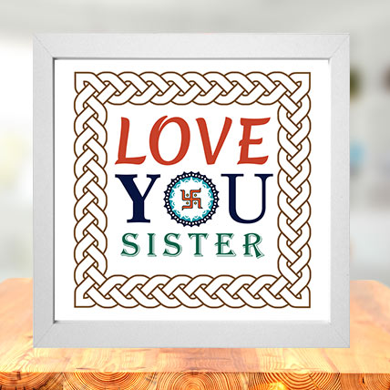 Love you Sister Photo Frame