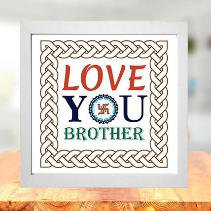 Love You Brother Photo Frame