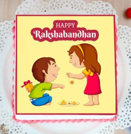 Happy Rakshabandhan Photo Cake