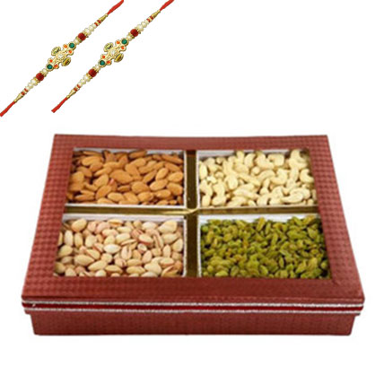 Rakhi with Mix Dry Fruits Box