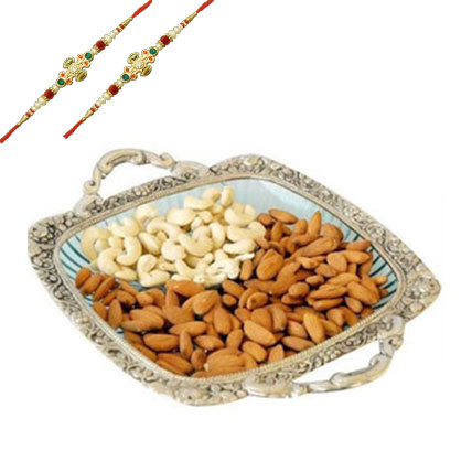 Almonds & Cashews with 2 Rakhis