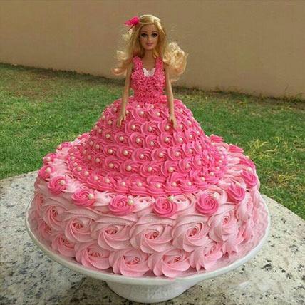 Barbie Super Swirl Dress Cake