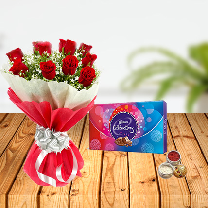 Dussehra Flower and Celebration Tikka Combo