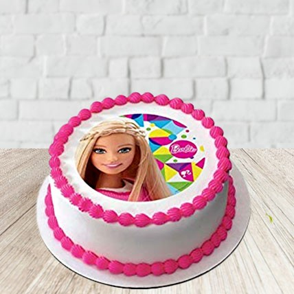 Strawberry Barbie Cake