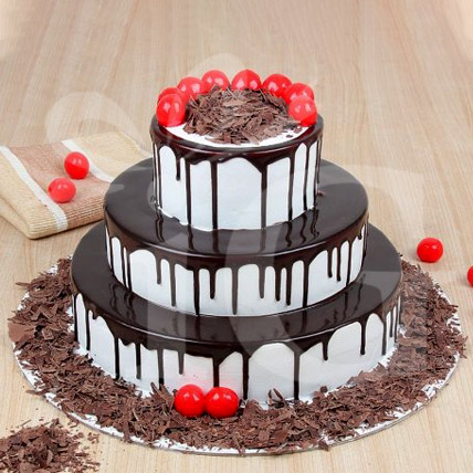 3 Tier Yummy Blackforest Cake