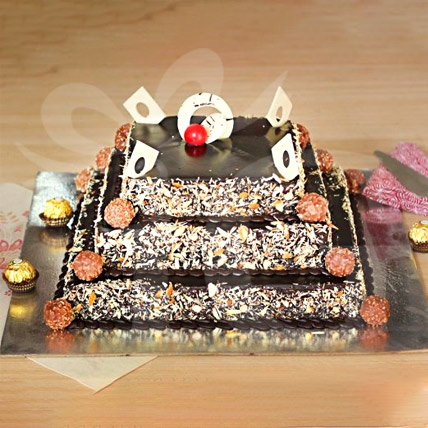 3 Tier Premium Rocher & Almond Cake