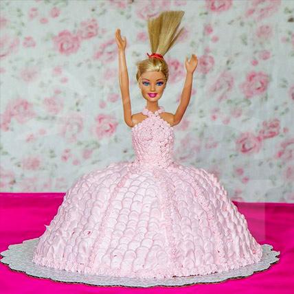 Beautiful Pink Barbie Cake