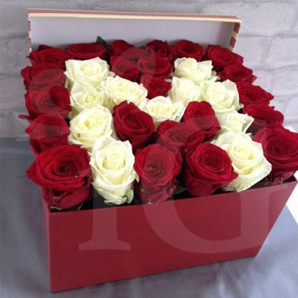 Beautiful Flower Box of Personalised Letter