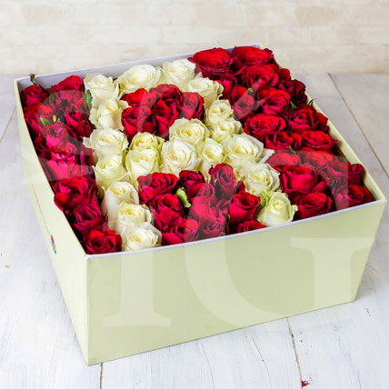Elegant Flower Box of Personalised Letter
