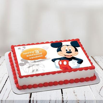 Mickey Photo Cake