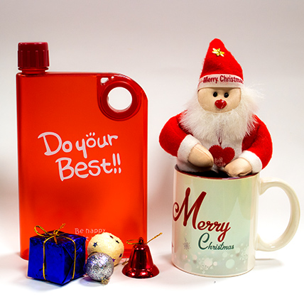 Cute Santa with Bottle & a Christmas Mug