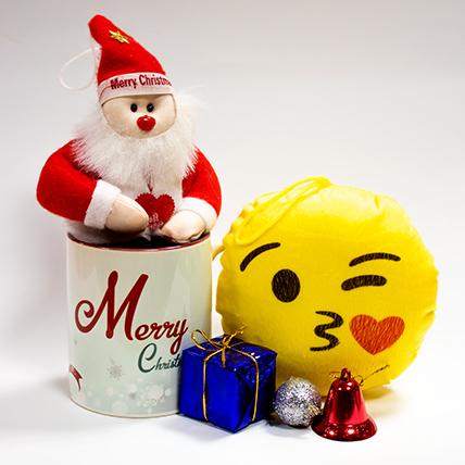 Cute Santa with Smiley & a Christmas Mug