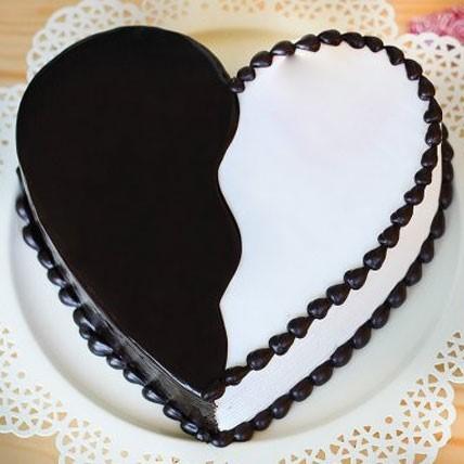 Heart Chocolicious Vanilla Cake