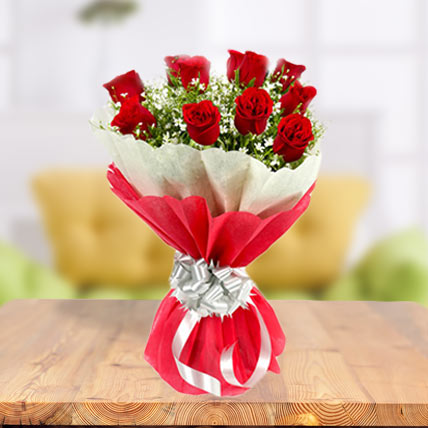 Valentine 18 Exclusive Red Roses Bunch