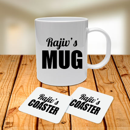 Personalised Name Mug and Coasters Combo