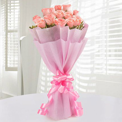 Exclusive Pink Roses Bunch