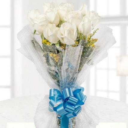 Lovely White Roses Bouquet