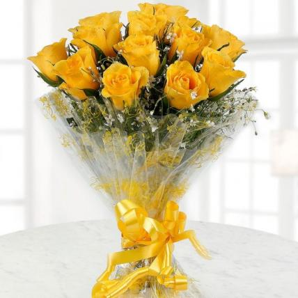 Sunshine Yellow Roses Bouquet